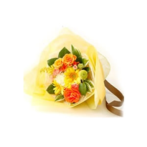 Charming bouquet of orange and yellow roses. The extreme beauty of yellow flowers here in this product. Send it now for only $65. For more please visit http://www.flowersnext.com/florist/category/sympathy.asp