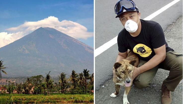 Un volcán en Indonesia amenaza con entrar en erupción por primera vez en 50 años, y las personas están rescatando a miles de animales