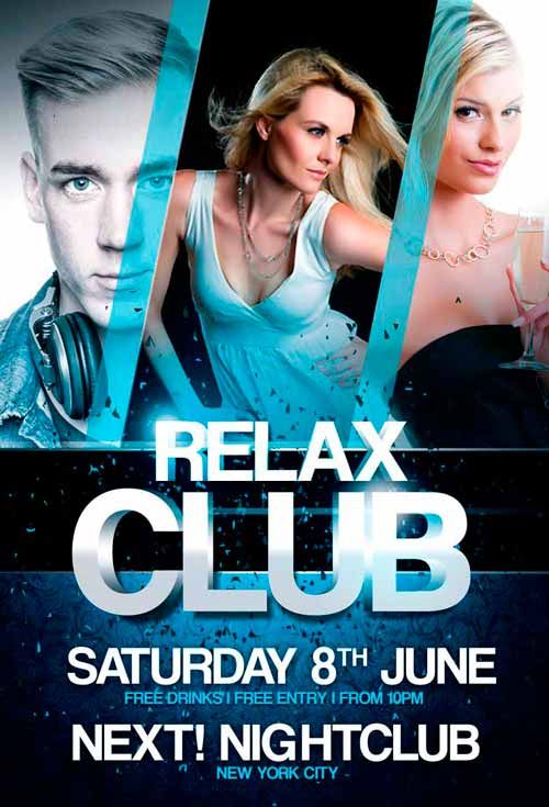 Relax Club Flyer Template