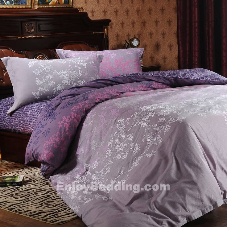 Gray And Purple Forest Bedding Sets Purple And Grey