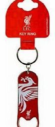 Official Football Merchandise Liverpool CREST Bottle Opener The Official Football Keychain Bottle Opener is a silver mettalic Coloured bottle opener keyring with a club crest on it, it has a split ring for attachment to keys. This (Barcode EAN = 5055639239692) http://www.comparestoreprices.co.uk/bottle-openers/official-football-merchandise-liverpool-crest-bottle-opener.asp