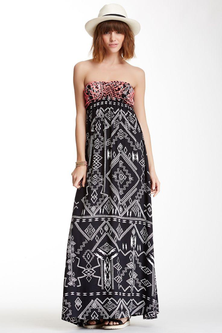 Billabong | Billabong Dreamed of You Embroidered Maxi Dress | Nordstrom Rack