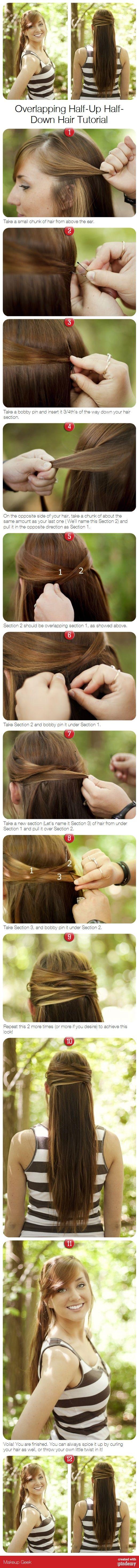 Overlapping Half-Up Half-Down Hair Tutorial