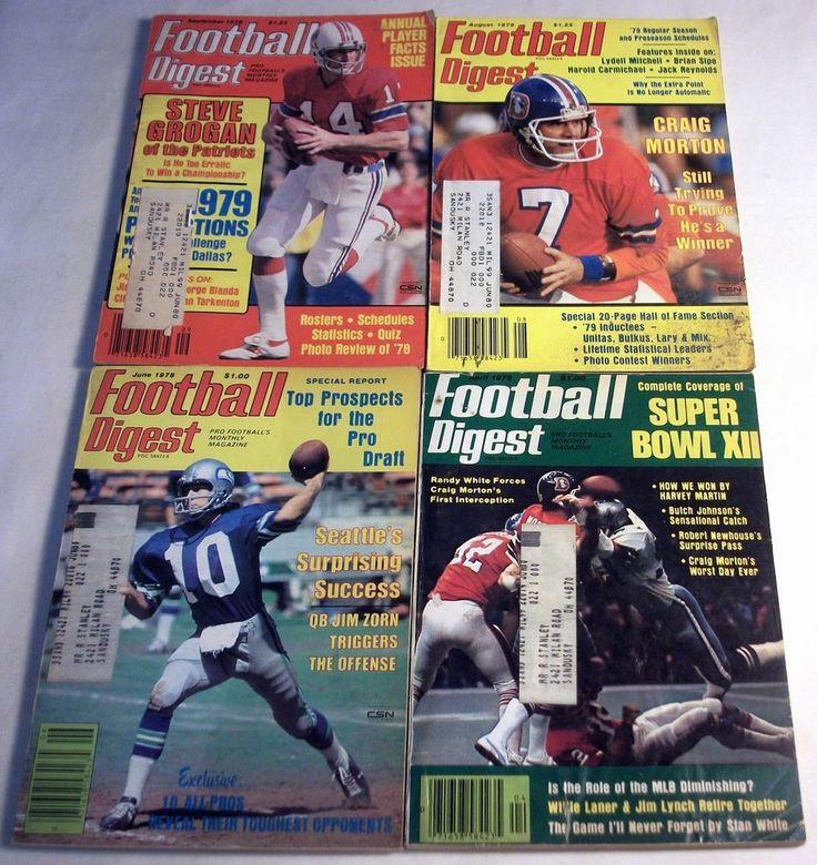Lot of 4 Football Digest 1977, 1978 #SuperBowlXII #Seahawks #Cowboys Broncos