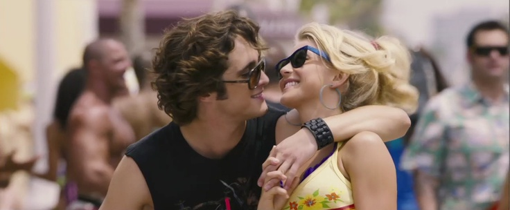 Diego Boneta and Julianne Hough wearing sunglasses in the movie Rock of Ages