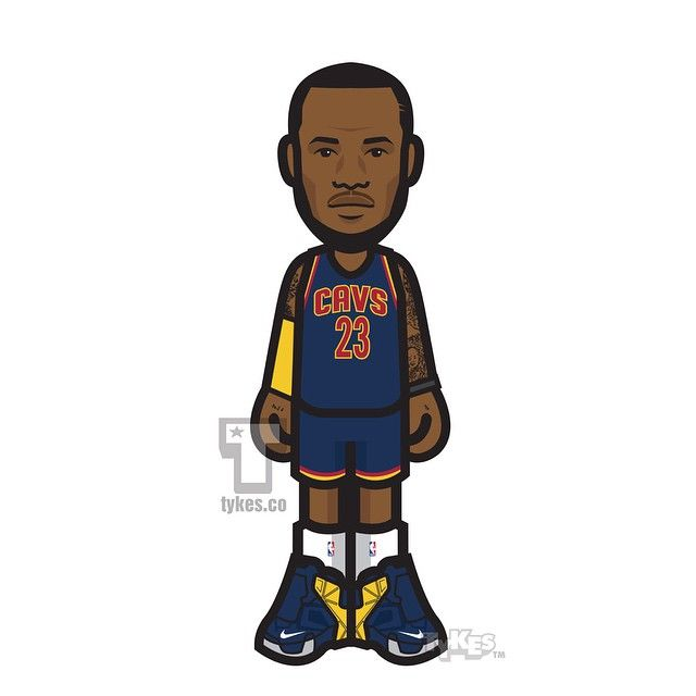 """""""Headband-Less"""" LeBron James Cleveland Cavaliers Tyke. What do you think, should he ditch the headband for good? #LeBronJames #LBJ #KingJames #headband #Cavs #NBA #basketball #NikeBasketball #tyke #tykes #MyTyke www.tykes.co"""