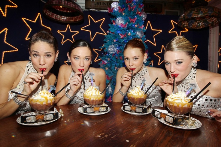 The Radio City Rockettes Unveil the New Rockettes Anniversary Salted Caramel Frrrozen Hot Chocolate in 3D at Serendipity 3
