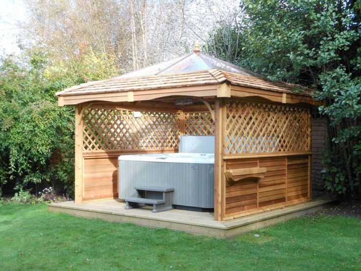 17 best ideas about hot tub gazebo on pinterest hot tubs for Spa gazebo kits