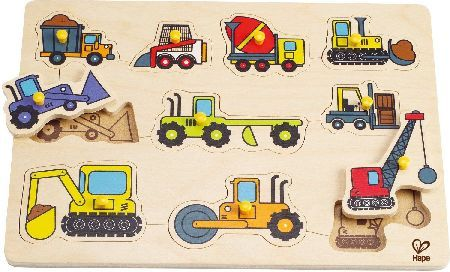 Hape Construction Site Peg Puzzle Construction Site Peg Puzzle by Hape allow young hands to fill this construction site with the ten machines needed to get any big job done. Finger sized pegs make picking up the pieces a snap. Develop http://www.MightGet.com/january-2017-12/hape-construction-site-peg-puzzle.asp