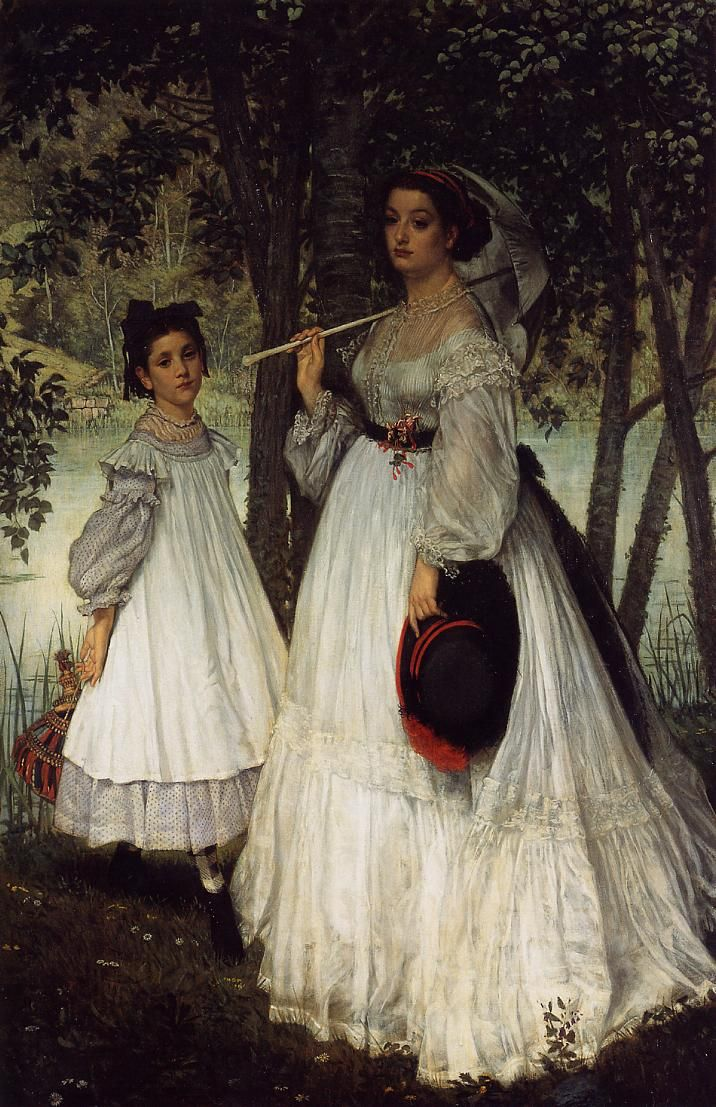 The Athenaeum - The Two Sisters; Portrait (James Tissot - ) Owner/Location: 	Musée d'Orsay  (France - Paris) Dates: 	1863 Artist age:	Approximately 27 years old. Dimensions: 	Unknown Medium: 	Painting - oil on canvas