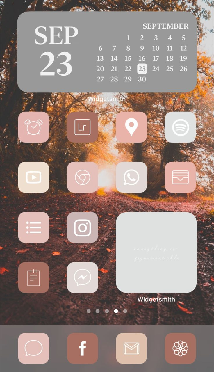 Warm Fall Aesthetic iPhone app icon home screen ideas