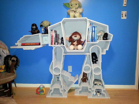 #StarWars AT-AT book shelf for #kids room and #nursery design. Dude.