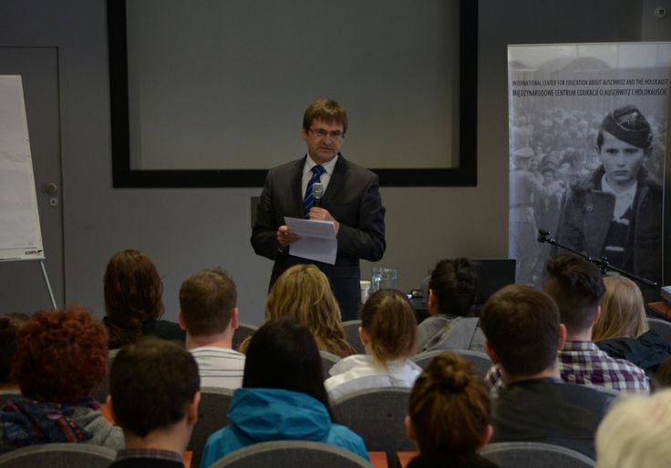 Andrzej Kacorzyk, the deputy director of the Auschwitz Memorial and the head of the International Center for Education about Auschwitz and the Holocaust began a two week seminar for a group of students from University of British Columbia in Canada on 12 May 2014.