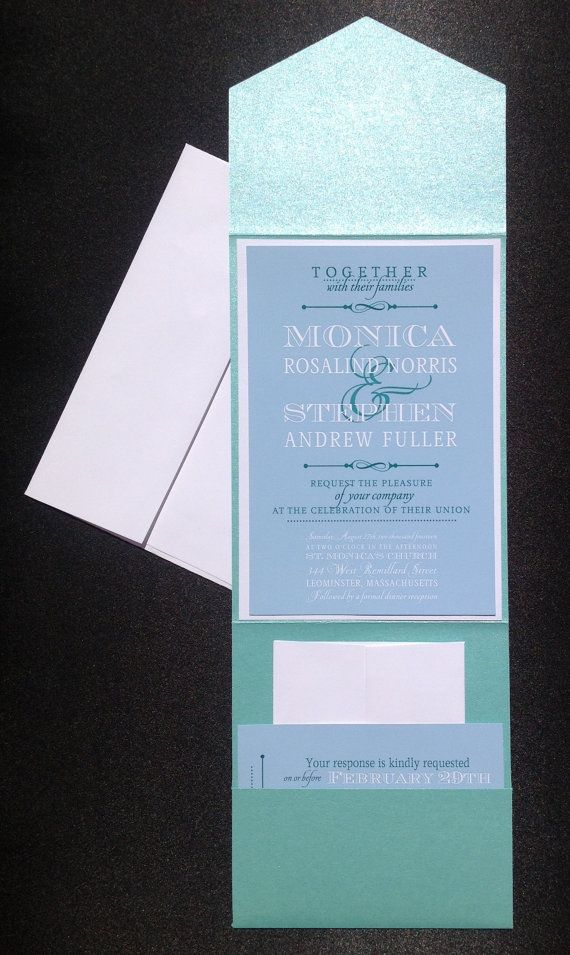 cinderellthemed wedding scroll invitations%0A Items similar to Wedding Invitation  Invitation  Mod Wedding Invitation  in Blue  White and Teal on Etsy