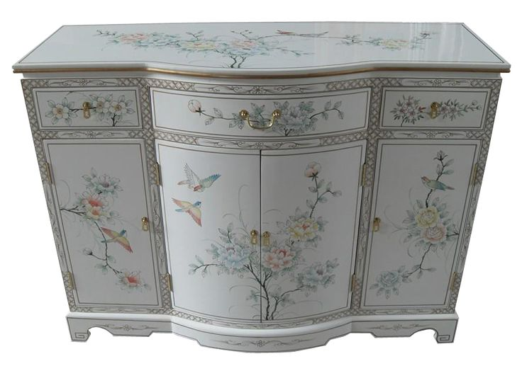 9 best images about asian lacquer furniture on pinterest for Hand painted oriental furniture