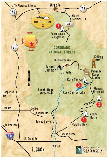 Peppersauce Campground Map In 2019 Arizona Travel