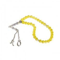 - Kişiye Özel Harfli Sarı Taşlı Tesbih