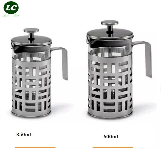 FREE SHIPPING FRENCH PRESS COFFEE /TEA TOOL WITH FILTER HIGH QUALITY GLASS POT