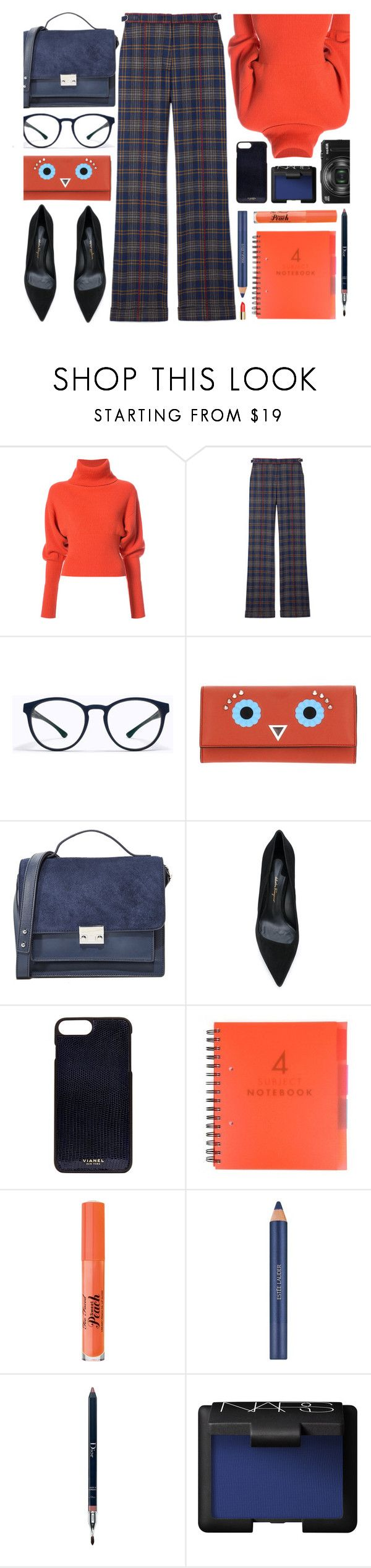 """Oxford"" by smartbuyglasses-uk ❤ liked on Polyvore featuring Creatures of the Wind, Gabriela Hearst, Mykita, Fendi, Loeffler Randall, Salvatore Ferragamo, Vianel, Too Faced Cosmetics, Estée Lauder and Christian Dior"