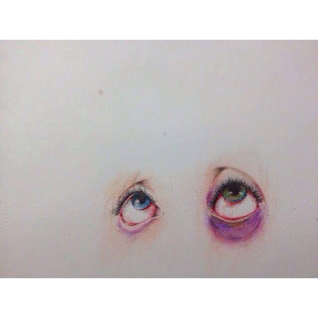 Bruised eyes sketch