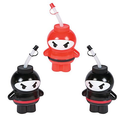 These Ninja Cups will add the Wow factor to your Ninja Party! Refresh your Karate kids in style with these fun cups! They are perfect for a Ninja Birthday, a Karate Party or any Martial Arts Event! Qu