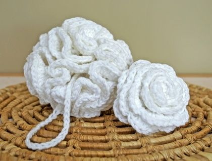 Spa Gift Set - Bath/Shower Poufs for Face & Body (Poof / Puff / Scrubbie / Loofah / Sponge)