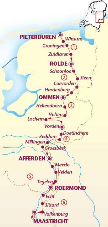 Pieterpad: hikingtrail 496km ( north - south Netherland)