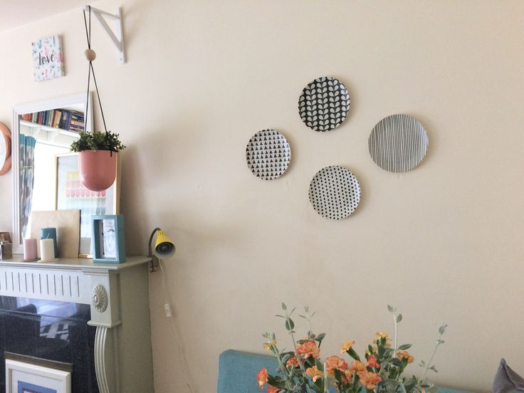 Plastic plates on my wall! Looks awesome!