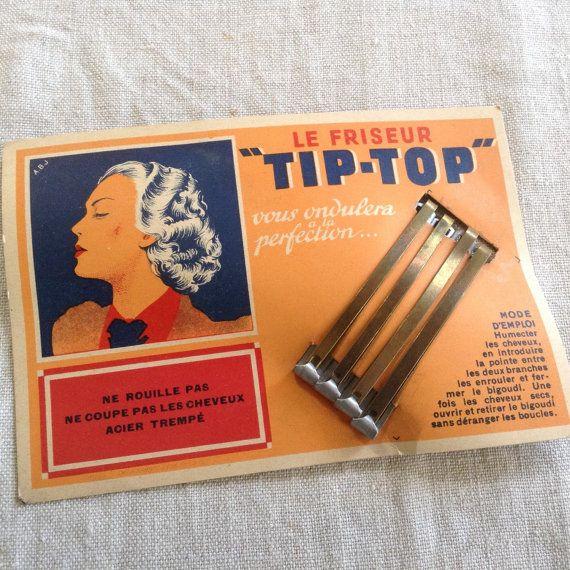Antique Rare 1920's Spit Curl wave Hair Pins by laminuinette