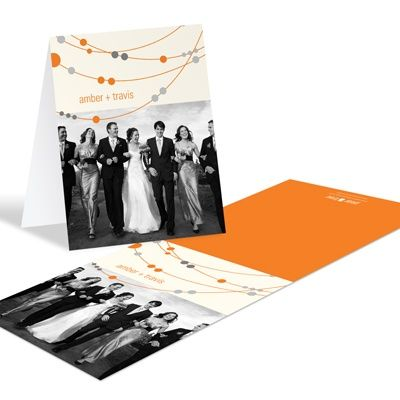 Swanky Strands -- Wedding Photo Thank You Notes