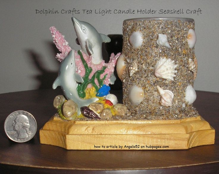 How to Make a Dolphin Crafts Tea Light Candle Holder Seashell Craft