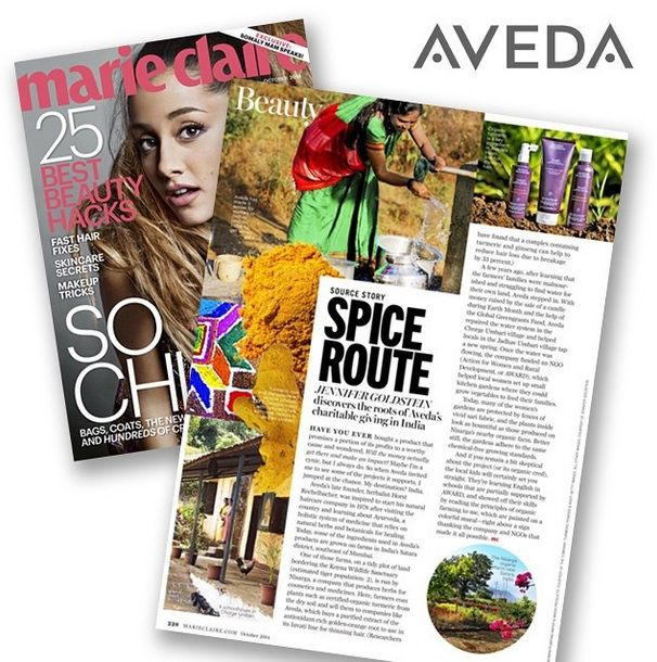 Did you see Invati in Marie Claire magazine? They visited India and learned about the plants and people who help power AVEDA products.