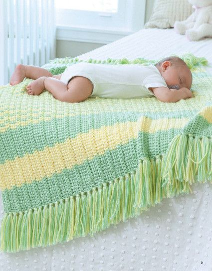 Picture of Tunisian Crochet Baby Blankets (book of patterns available for purchase)