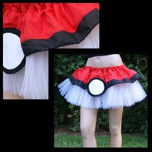Pokemon PokeBall Red White Costume TuTu All Sizes MTCoffinz. $40.00, via Etsy.
