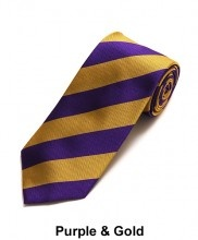 Purple and gold tie