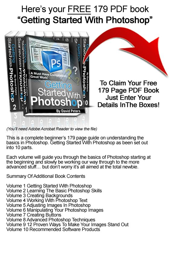 """""""Learn Photoshop Now"""" Complete Set Of Photoshop Tutorials For BEGINNERS - FREE PHOTOSHOP BOOK"""