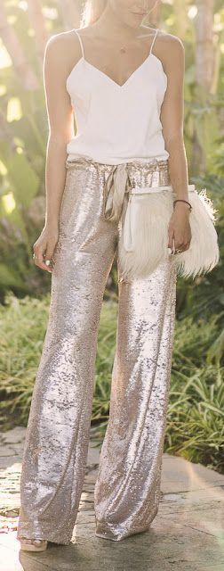 Sequin pants.... they'd be hell to walk in but they're so pretty