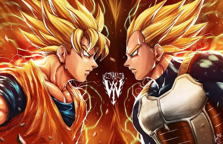 Goku Vs Vegeta BY Wizyakuza