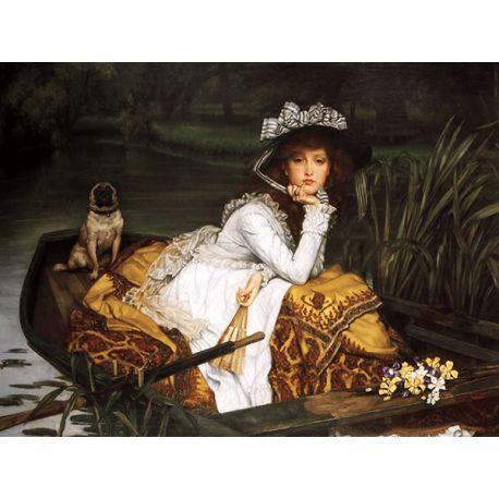 Reprodukcje obrazów James Tissot Young Lady in a Boat - Fedkolor