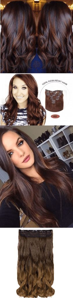 Family Deals Hair Extensions Easy One-piece Ombre Clip In Hair Extensions