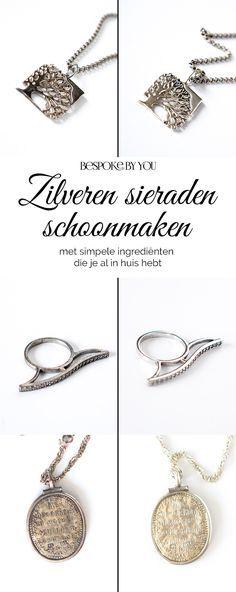 Maak je zilveren sieraden in één keer allemaal schoon met een paar simpele ingrediënten die je waarschijnlijk al in huis hebt.