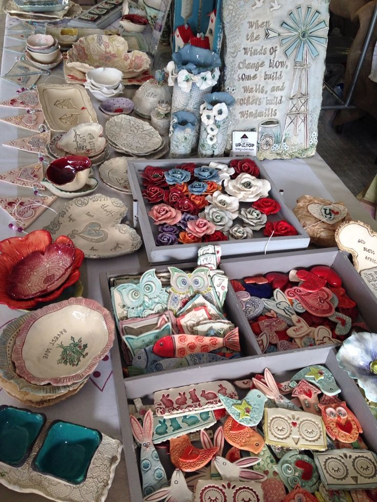 Market day, ceramics by Eleanor Gillitt