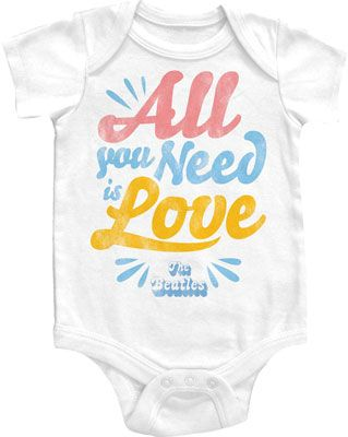 Babies know best: ALL YOU NEED IS LOVE.