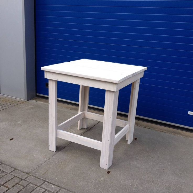 Steigerhout Bartafel XL in white wash