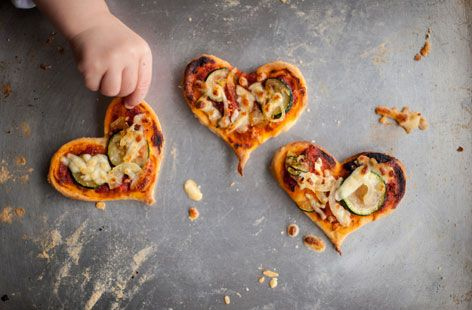 Pizza hearts | From the @Russ Maloney British Chefs Cooking with Kids collection | Tesco Real Food