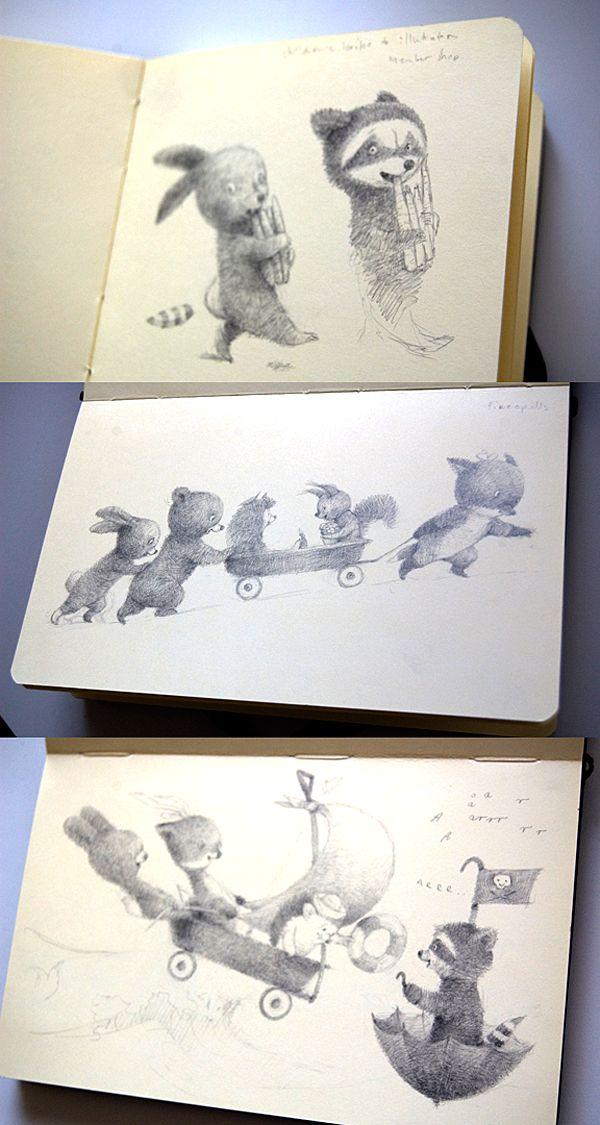 Illustrator Renata Liwska sketchbooks