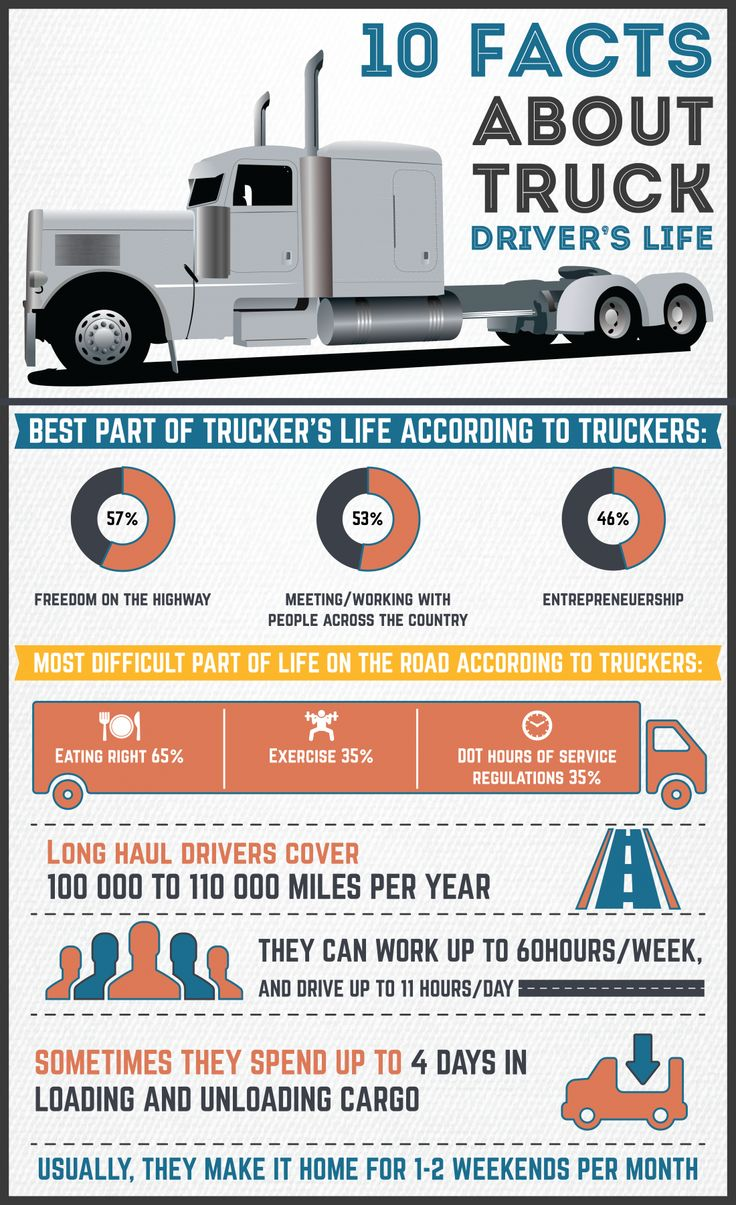 Infographic 10 facts about truck drivers s life infographic about 10 facts about truck drivers s life