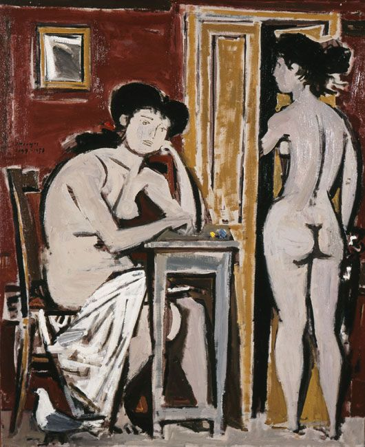 Page: Composition I Artist: Yiannis Moralis Start Date: 1949 Completion Date:1958 Style: Expressionism Genre: nude painting (nu) Technique: oil