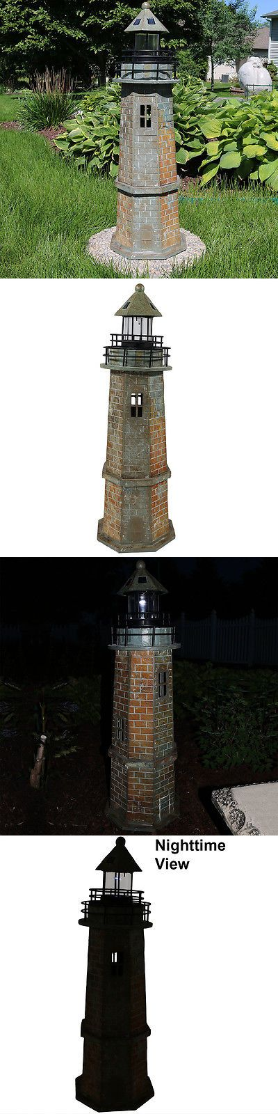 Other Outdoor Lighting 20509: Sunnydaze Outdoor Solar Led Lighthouse Patio Deck Yard Landscape Nautical Decor -> BUY IT NOW ONLY: $279 on eBay!