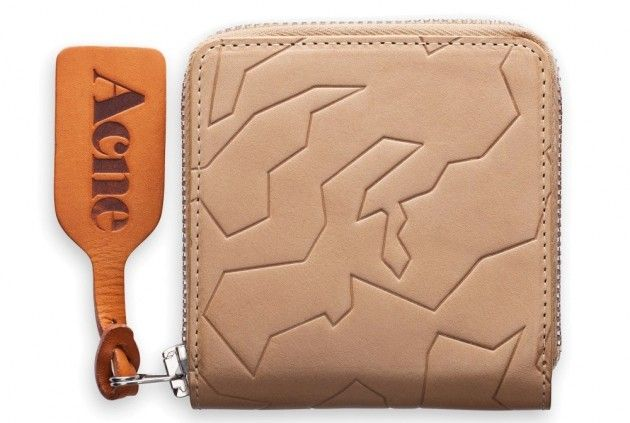 Acne Amber Geo Taupe Wallet